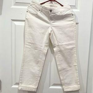 Style & Co. white denim pants size 2P